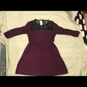 Plum knee-length dress